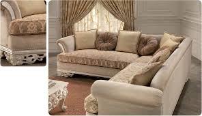 divani per salotti divano angolare per salotto classico di lusso intagliato idfdesign