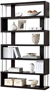 Modern Bookcase Furniture by Amazon Com Baxton Studio Barnes 6 Shelf Modern Bookcase Dark