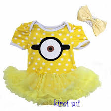 Despicable Minion Costume Baby Girls Despicable Minion Costume Bodysuit Romper Pettiskirt