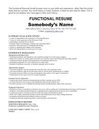 Work Experience Resume Format For It by One Job Resume Examples