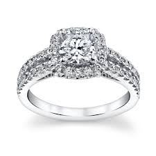 girls wedding rings images Center 1 carat lab grown diamond halo ring for girls solid 9k jpg