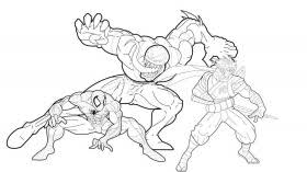 15 pics spider man fighting venom coloring pages spider man