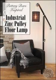 pottery barn knock off lighting industrial zinc pulley floor l pottery barn knockoff the kim