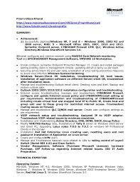 Best Network Administrator Resume by Network System Administrator Cv It Executive Resume