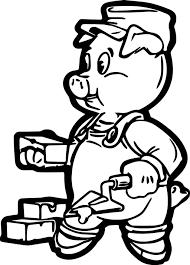 brick pig coloring page wecoloringpage