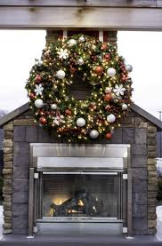 improvements indoor outdoor lighted christmas garland diy large outdoor commercial christmas wreaths downtown