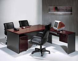 furniture office furniture dark brown stained wooden two person
