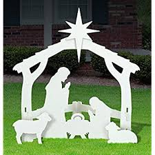 easygo large outdoor nativity large