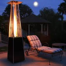 glass tower propane patio heater in antique bronze