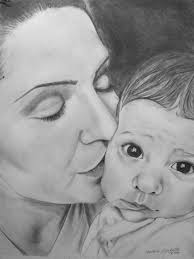 mother to a child sketch by graphitehand on deviantart