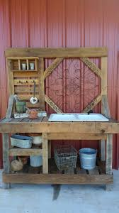 pallet potting bench gardening rustic outdoor craft