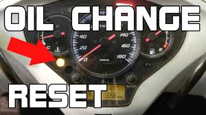 how to reset the oil change indicator sh300 youtube