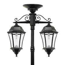 solar powered lamp post tops solar porch light fence post lights