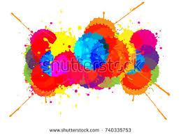 vector splatter color background design illustration stock vector