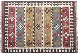 Multicolored Rug Kilim Carpet Area Rug In Wool U0026 Cotton U2013 Hand Woven Floor Mat