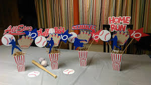 baseball centerpieces set of 4 baseball centerpieces playball baseball centerpiece