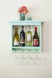 sale mint green wall mounted wine rack with wine glass by