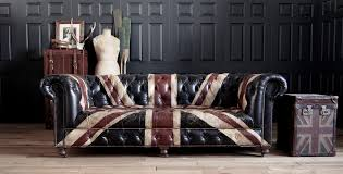 Are Chesterfield Sofas Comfortable by Hand Painted Vintaged Leather Union Jack Chesterfield Sofa Sold