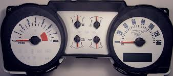 Pictures Of Black Mustangs Black Cat Custom Automotive 2005 2009 Ford Mustang Gauge Faces