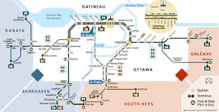 Map Of Ottawa Oc Transpo Gets Graphic The Transitway Map Spacing Ottawa