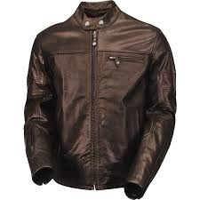 perforated leather motorcycle jacket roland sands design ronin tobacco perforated leather motorcycle