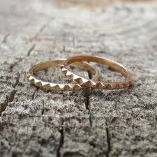 pyramid wedding band womens wedding band gold wedding band gold band stacking