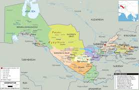 Central And Northern Asia Political Map by Uzbekistan Seeks To Reinvigorate Its Diplomatic Clout In The