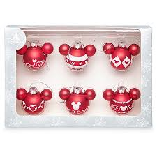 ornament set mickey mouse icon and white set of 6