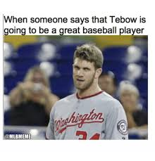 Tebow Meme - 25 best memes about baseball mlb and tebowing baseball