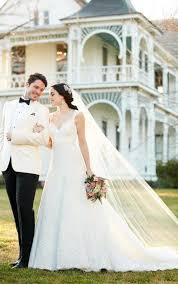 vintage style lace a line wedding dress martina liana