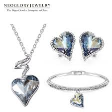 jewelry set aliexpress buy neoglory austria rhinestone jewelry