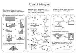 area of triangles with answers by mcampbell21 teaching
