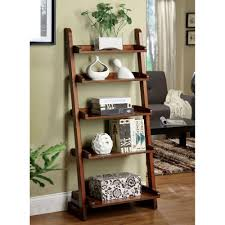 bookcases with ladder home decorators collection lugo antique oak ladder bookcase cm