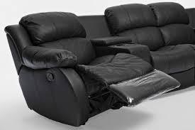 Black Leather Recliner Sofa Extraordinary Black Leather Recliner Sofa 2 1 Black Leather