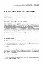 quotation format manpower supply md2 is not secure without the checksum byte springer