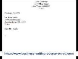 how to write a business letter the 8 parts youtube