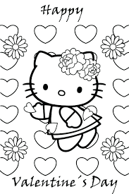 hello valentines day hello valentines day coloring pages regarding