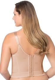 back hook back hook longline posture bra with embroidery by elila plus