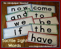 words cards tactile sight word cards no sandpaper needed make take teach