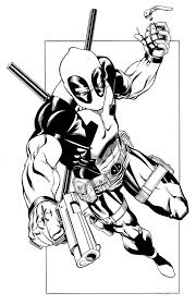 free printable deadpool coloring pages kids