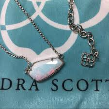 white opal silver necklace images 34 off kendra scott jewelry sold kendra scott white kyocera jpg