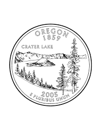 coloring pages quarter oregon state quarter coloring page usa state quarters