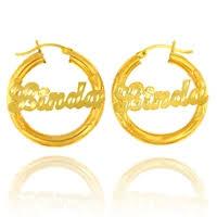 Gold Name Earrings Name Earrings Ridgewood Queens Ny