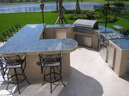 Outdoor Kitchen Countertops Ideas Kitchen Diy Outdoor Kitchens With Wooden Covered And Stainless