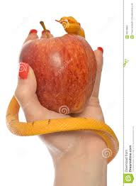 allegory of the temptation of adam and eve stock photo image