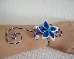 blue white bracelet etsy