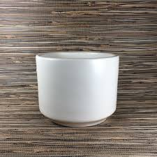 Large White Planter by Gainey Ceramics C 6 White Architectural Pottery Cylinder Planter