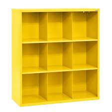 sandusky cubby 46 in x 52 in yellow 9 cube organizer ic00461852