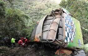 imagenes de sud yungas tránsito seis muertos y 41 heridos deja accidente en la carretera