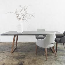 Contemporary Dining Room Chair Concrete Dining Table 2200 X 900 Grey Concrete Dining Table